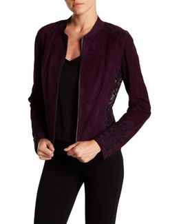 Zahara Genuine Lamb Suede Lace Jacket
