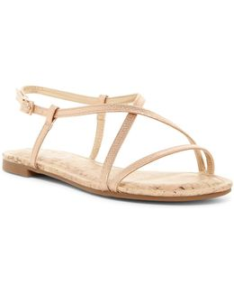 Henley Reptile-embossed Sandal