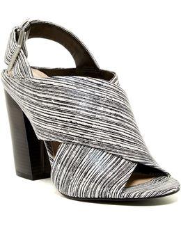 Suchi Graphic Stripe Block Heel Sandal