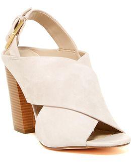 Suchi Suede Block Heel Sandal