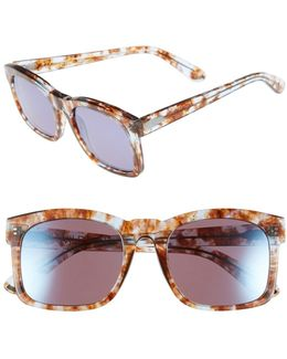 Women's Gaudy Deluxe Square Acetate Frame Sunglasses