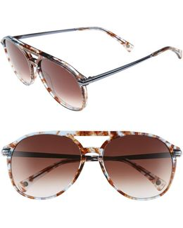 Women's Baroness Aviator Acetate Frame Sunglasses