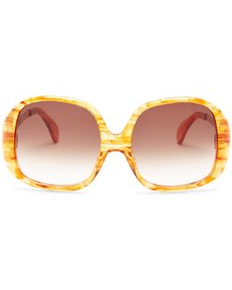 Women's Liz Oversized Plastic Frame Sunglasses