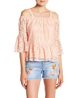 Hope Off-the-shoulder Lace Blouse