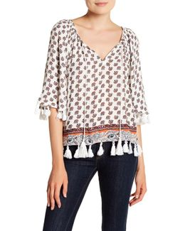 Claire Printed Poncho Top