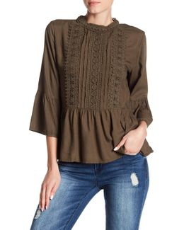 Leighton Crochet Lace Boho Blouse