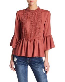 Leighton Crochet Lace Boho Blouse
