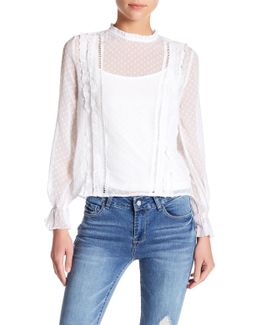 Swiss Dot Chiffon Blouse