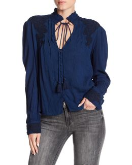 Grace Crepe Split Neck Blouse