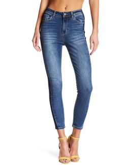 Paneled Ankle Crop Jeans