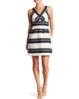Loretta V-neck Jacquard Dress