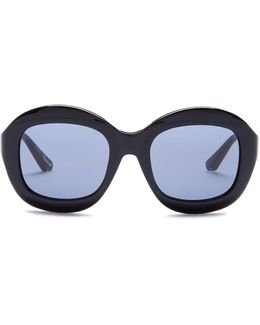 Women's Beaumont Oversized Round Acetate Frame Sunglasses