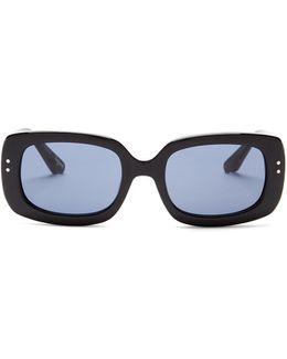 Women's Sedgwick Rectangular Oversized Acetate Frame Sunglasses