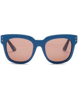 Women's Allen Square Acetate Frame Sunglasses