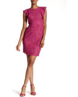 Carmen Floral Lace Sheath Dress