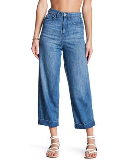 Wide Leg Rolled Jean