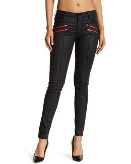 Red Zip Skinny Jean
