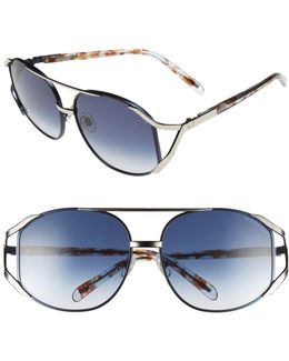Women's Dynasty Oversized Metal Frame Sunglasses