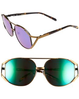 Women's Dynasty Deluxe Oversized Metal Frame Sunglasses