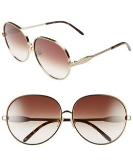 Women's Fleur Retro Metal Frame Sunglasses