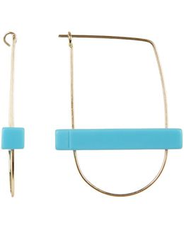 Turquoise Bar Hoop Earrings