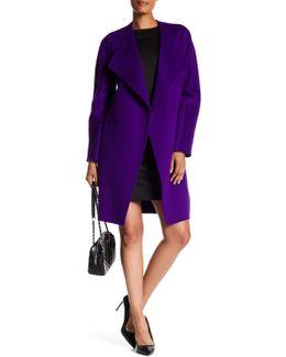 Dez Wool Blend Drape Front Coat