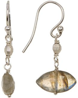 Faceted Marquise Labradorite Bead Drop Earrings