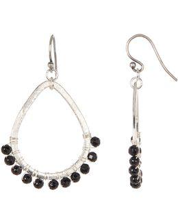 Swarovski Pearl Open Teardrop Earrings