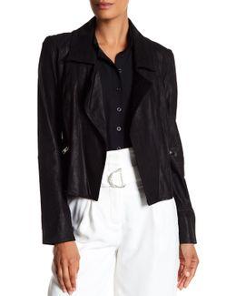 Ethel Boxy Genuine Leather Jacket