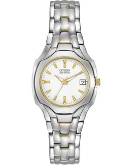 Women's Eco-drive Two-tone Stainless Bracelet Watch