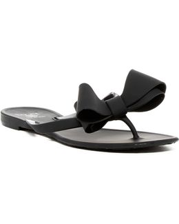 Matte Lounge Bow Sandal