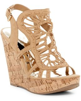 Banjo Caged Platform Wedge Sandal