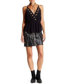 Obsessed Genuine Leather Mini Skirt