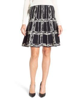 Windowpane Twirl Skirt