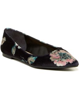 Ryane Velvet Pointed Toe Flat