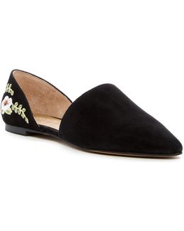 Sanora D'orsay Floral Embroidered Flat