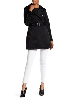 Asymmetrical Belted Trench Coat