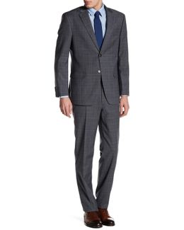 Vasser Gray Glenplaid Two Button Notch Lapel Suit