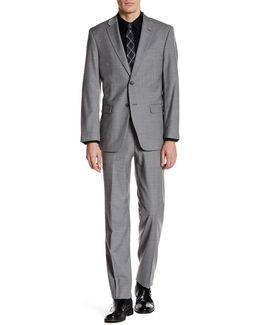 Vasser Grey Check Two Button Notch Lapel Suit