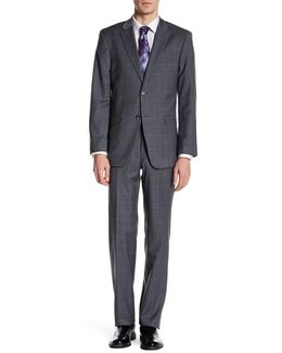 Vasser Gray Windowpane Two Button Notch Lapel Suit