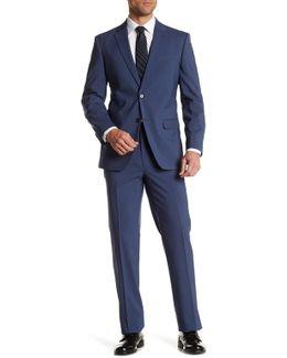 Vasser Solid Blue Classic Fit Suit