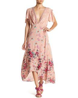 Split Sleeve Wrap Maxi Dress