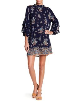Ruffle Tier Sleeve Floral Dress