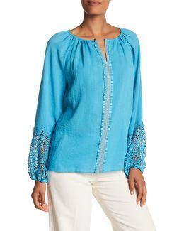 Beckett Split Neck Blouse