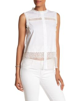 Zeena Crochet Trim Blouse