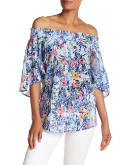 Mindy Off-the-shoulder Floral Blouse