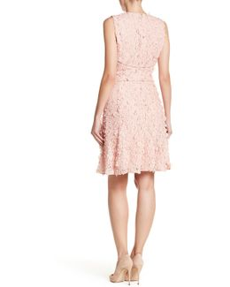 Sia Studded Crochet & Floral Eyelet Dress