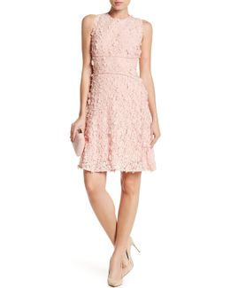 Sia Studded Crochet & Floral Eyelet Dress