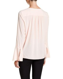 Norma Ruffle Sleeve Beaded Blouse