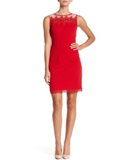 Roberta Beaded Lace Yoke Dress